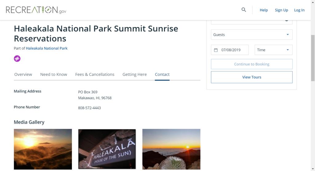 haleakala sunrise reservations official website