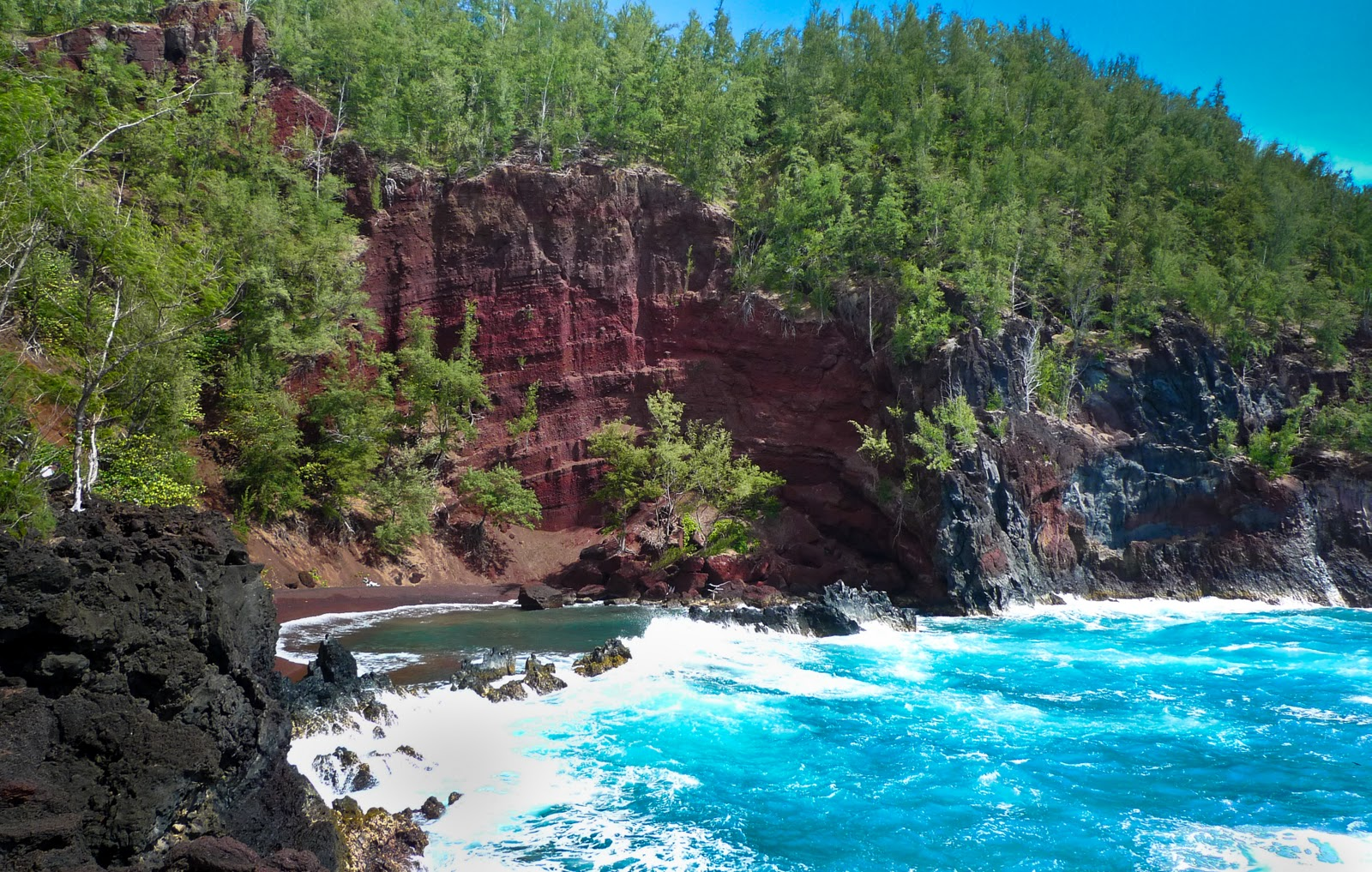 Kaihalulu (Red Sand Beach Maui): Most Beautiful Beach in the World